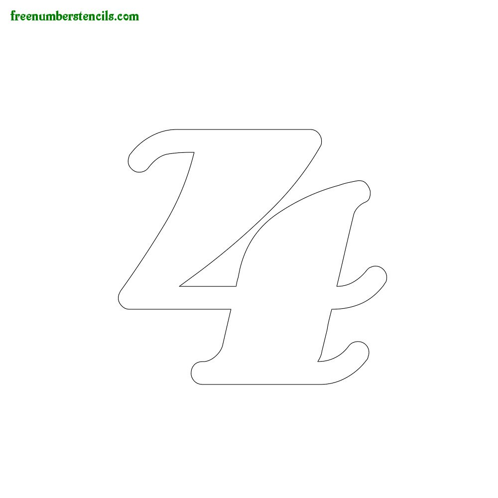 Free Olden Number Stencils - number_4