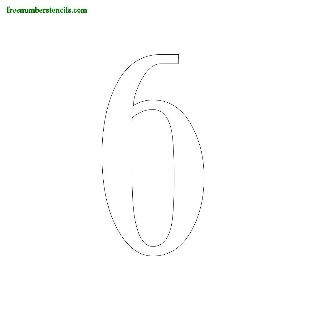 1930s Number Stencils - number_6