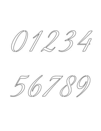 1 Inch Stylish Calligraphy Calligraphy Style Number Stencils 0 to 9 1 Inch Stylish Calligraphy Calligraphy Style Number Stencils 0 to 9 Number Stencil Sample