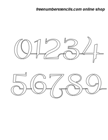 1 Inch Wedding Calligraphy Calligraphy Style Number Stencils 0 to 9 1 Inch Wedding Calligraphy Calligraphy Style Number Stencils 0 to 9 Number Stencil Sample
