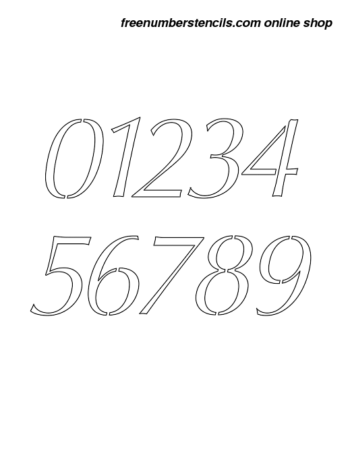 5 Inch Bold Sans Italic Italic Number Stencils 0 to 9 5 Inch Bold Sans Italic Italic Number Stencils 0 to 9 Number Stencil Sample