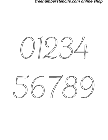 5 Inch Chic Italic Italic Number Stencils 0 to 9 5 Inch Chic Italic Italic Number Stencils 0 to 9 Number Stencil Sample