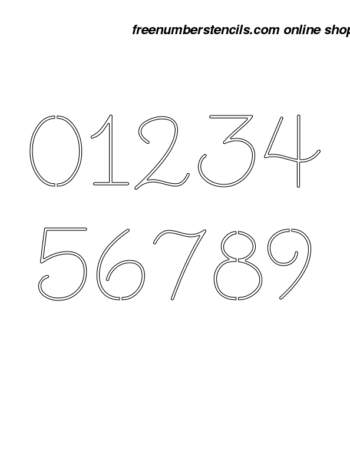 1 Inch Cute Cursive Cursive Style Number Stencils 0 to 9 1 Inch Cute Cursive Cursive Style Number Stencils 0 to 9 Number Stencil Sample