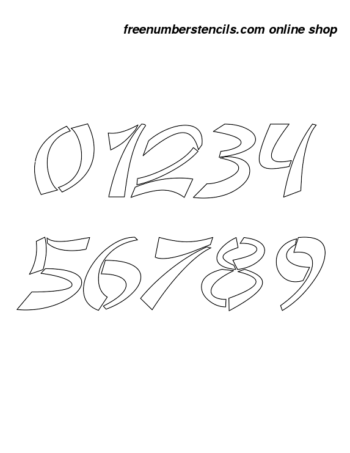 5 Inch Asian & Italic Italic Number Stencils 0 to 9 5 Inch Asian & Italic Italic Number Stencils 0 to 9 Number Stencil Sample