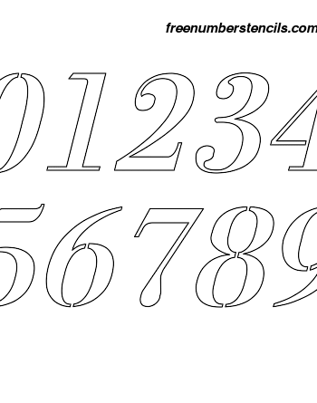 6 Inch 1700's Exquisite Italic Italic Number Stencils 0 to 9 6 Inch 1700's Exquisite Italic Italic Number Stencils 0 to 9 Number Stencil Sample