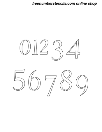 1 Inch Graceful Cursive Cursive Style Number Stencils 0 to 9 1 Inch Graceful Cursive Cursive Style Number Stencils 0 to 9 Number Stencil Sample