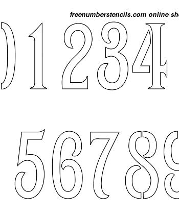 6 Inch 1800's Art Nouveau Art Nouveau Style Number Stencils 0 to 9 6 Inch 1800's Art Nouveau Art Nouveau Style Number Stencils 0 to 9 Number Stencil Sample