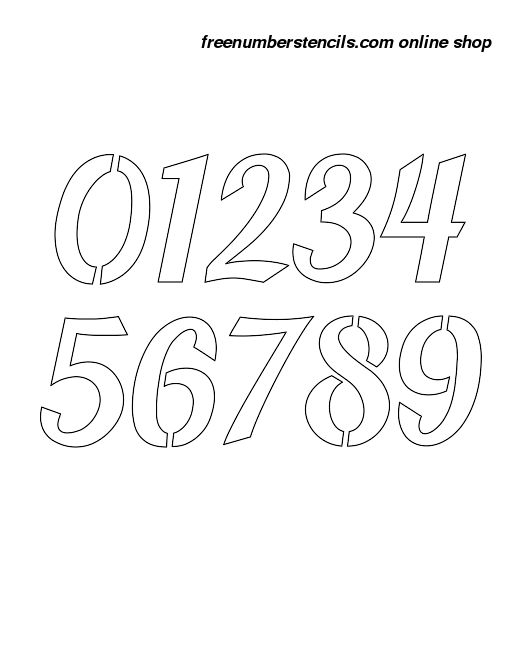 Inch bold script calligraphy style number