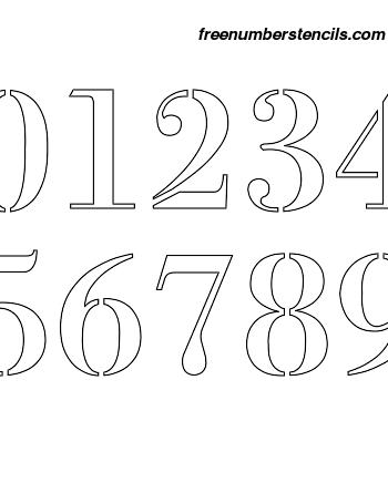 7 Inch 1700's Exquisite Elegant Number Stencils 0 to 9 7 Inch 1700's Exquisite Elegant Number Stencils 0 to 9 Number Stencil Sample