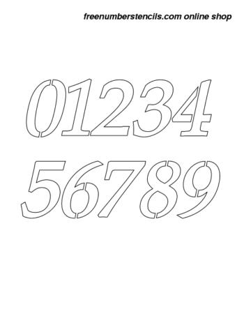 7 Inch 90's Elegant Italic Italic Number Stencils 0 to 9 7 Inch 90's Elegant Italic Italic Number Stencils 0 to 9 Number Stencil Sample
