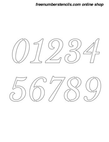 7 Inch Roman Serif Italic Italic Number Stencils 0 to 9 7 Inch Roman Serif Italic Italic Number Stencils 0 to 9 Number Stencil Sample