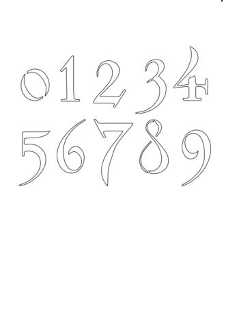 1 Inch Fantasy Art Nouveau Art Nouveau Style Number Stencils 0 to 9 1 Inch Fantasy Art Nouveau Art Nouveau Style Number Stencils 0 to 9 Number Stencil Sample