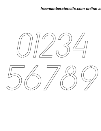 8 Inch Simple Italic Italic Number Stencils 0 to 9 8 Inch Simple Italic Italic Number Stencils 0 to 9 Number Stencil Sample