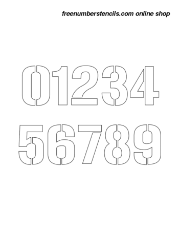 9 Inch 70's Film Novelty Stencils Number Stencils 0 to 9 9 Inch 70's Film Novelty Stencils Number Stencils 0 to 9 Number Stencil Sample