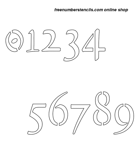 10 Inch 16th Century Cursive Cursive Style Number Stencils 0 to 9 10 Inch 16th Century Cursive Cursive Style Number Stencils 0 to 9 Number Stencil Sample