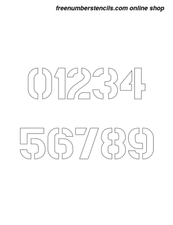 10 Inch Bold Army Army Number Stencils 0 to 9 10 Inch Bold Army Army Number Stencils 0 to 9 Number Stencil Sample