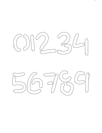 10 Inch Choppy & Rugged Novelty Stencils Number Stencils 0 to 9 10 Inch Choppy & Rugged Novelty Stencils Number Stencils 0 to 9 Number Stencil Sample
