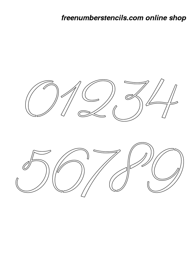 11 Inch 60 39 S Calligraphy Calligraphy Style Number Stencils