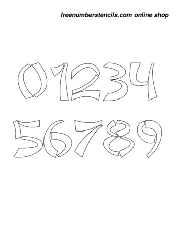 11 Inch Asian Style Novelty Stencils Number Stencils 0 to 9 11 Inch Asian Style Novelty Stencils Number Stencils 0 to 9 Number Stencil Sample