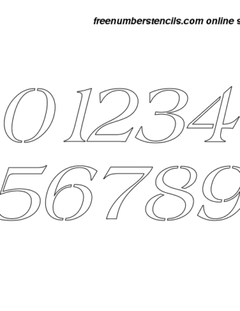 12 Inch 60's Americana Italic Italic Number Stencils 0 to 9 12 Inch 60's Americana Italic Italic Number Stencils 0 to 9 Number Stencil Sample