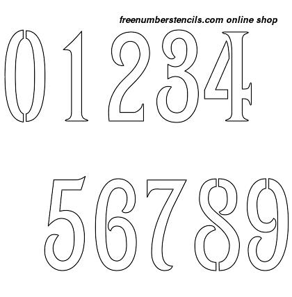 ½ Half Inch 1800's Art Nouveau Art Nouveau Style Number Stencils 0 to 9 ½ Half Inch 1800's Art Nouveau Art Nouveau Style Number Stencils 0 to 9 Number Stencil Sample