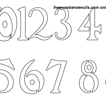 ½ Half Inch Intricate Art Nouveau Art Nouveau Style Number Stencils 0 to 9 ½ Half Inch Intricate Art Nouveau Art Nouveau Style Number Stencils 0 to 9 Number Stencil Sample