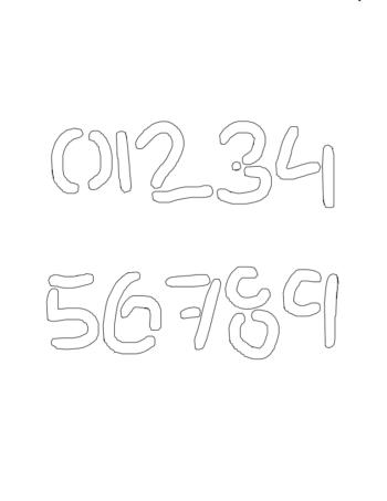 ½ Half Inch Choppy & Rugged Novelty Stencils Number Stencils 0 to 9 ½ Half Inch Choppy & Rugged Novelty Stencils Number Stencils 0 to 9 Number Stencil Sample
