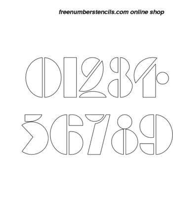 ½ Half Inch Art Deco Bold Bold Number Stencils 0 to 9 ½ Half Inch Art Deco Bold Bold Number Stencils 0 to 9 Number Stencil Sample