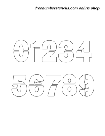 ½ Half Inch Heavy & Bold Bold Number Stencils 0 to 9 ½ Half Inch Heavy & Bold Bold Number Stencils 0 to 9 Number Stencil Sample