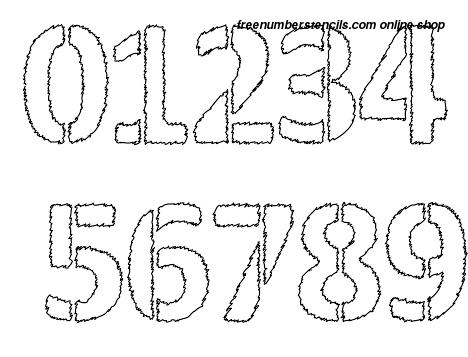 ½ Half Inch Fuzzy Lumber Novelty Stencils Number Stencils 0 to 9 ½ Half Inch Fuzzy Lumber Novelty Stencils Number Stencils 0 to 9 Number Stencil Sample