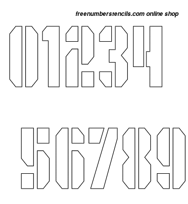 ½ Half Inch Octagonal Army Number Stencils 0 to 9 ½ Half Inch Octagonal Army Number Stencils 0 to 9 Number Stencil Sample