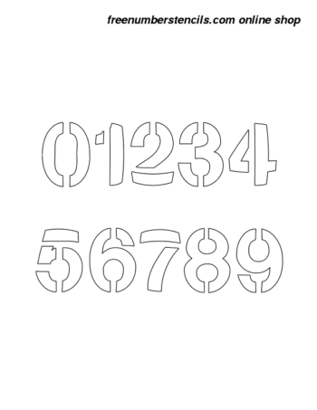 ½ Half Inch Artsy Bold Bold Number Stencils 0 to 9 ½ Half Inch Artsy Bold Bold Number Stencils 0 to 9 Number Stencil Sample