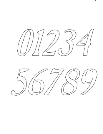 2 Inch Antique Italic Italic Number Stencils 0 to 9 2 Inch Antique Italic Italic Number Stencils 0 to 9 Number Stencil Sample
