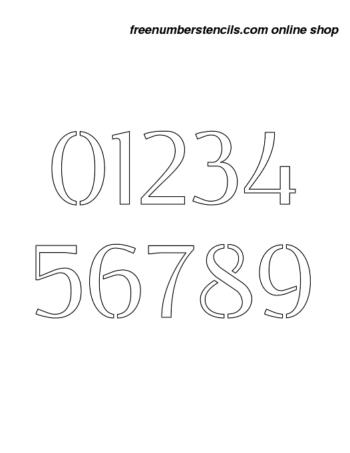 1½ Half Inch Stencils