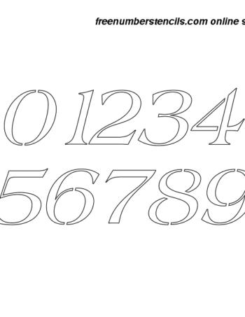 1½ Half Inch 60's Americana Italic Italic Number Stencils 0 to 9 1½ Half Inch 60's Americana Italic Italic Number Stencils 0 to 9 Number Stencil Sample