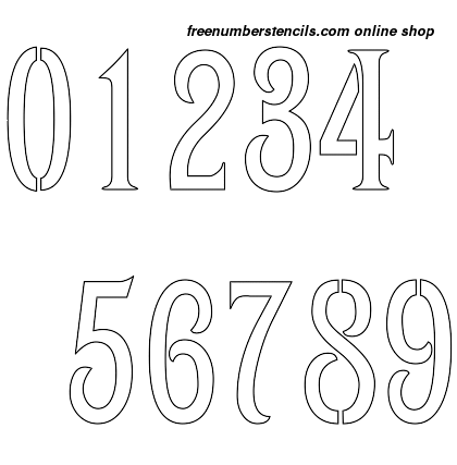 1½ Half Inch 1800's Art Nouveau Art Nouveau Style Number Stencils 0 to 9 1½ Half Inch 1800's Art Nouveau Art Nouveau Style Number Stencils 0 to 9 Number Stencil Sample
