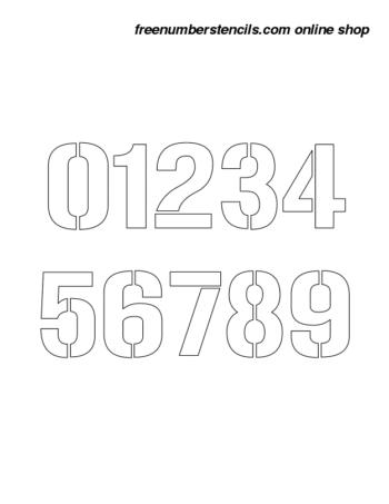 1½ Half Inch 70's Film Novelty Stencils Number Stencils 0 to 9 1½ Half Inch 70's Film Novelty Stencils Number Stencils 0 to 9 Number Stencil Sample