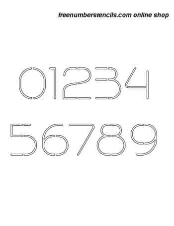 2½ Half Inch Stylish Contemporary Elegant Number Stencils 0 to 9 2½ Half Inch Stylish Contemporary Elegant Number Stencils 0 to 9 Number Stencil Sample