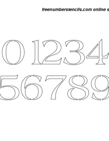 2½ Half Inch 60's Americana Elegant Number Stencils 0 to 9 2½ Half Inch 60's Americana Elegant Number Stencils 0 to 9 Number Stencil Sample