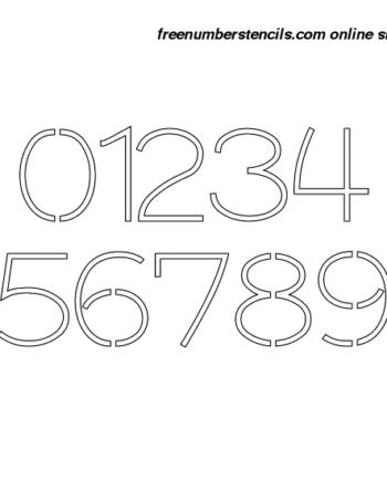 2½ Half Inch 30's Artistic Elegant Number Stencils 0 to 9 2½ Half Inch 30's Artistic Elegant Number Stencils 0 to 9 Number Stencil Sample