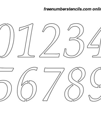 2½ Half Inch French Style Italic Italic Number Stencils 0 to 9 2½ Half Inch French Style Italic Italic Number Stencils 0 to 9 Number Stencil Sample