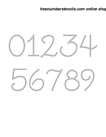 2½ Half Inch Stencils
