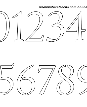 2½ Half Inch Humanist Italic Italic Style Number Stencils 0 to 92½ Half Inch Humanist Italic Italic Style Number Stencils 0 to 9Number Stencil Sample