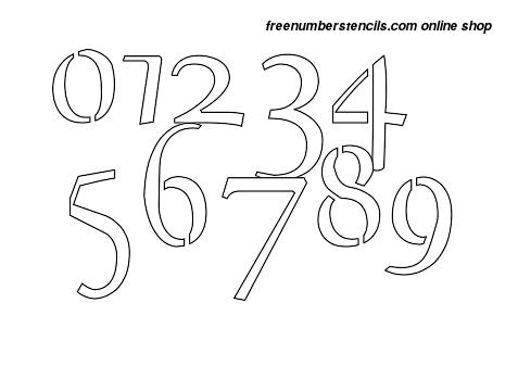 1 Inch Exquisite Celtic Elegant Number Stencils 0 to 9 1 Inch Exquisite Celtic Elegant Number Stencils 0 to 9 Number Stencil Sample