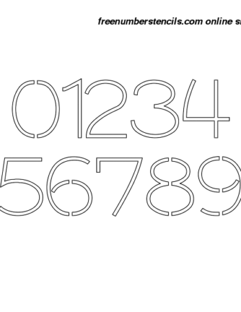 3 Inch 30's Artistic Elegant Number Stencils 0 to 9 3 Inch 30's Artistic Elegant Number Stencils 0 to 9 Number Stencil Sample
