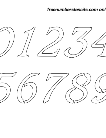 3 Inch Italic & Bold Italic Number Stencils 0 to 9 3 Inch Italic & Bold Italic Number Stencils 0 to 9 Number Stencil Sample