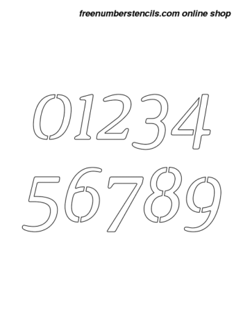 1 Inch Narrow Contemporary Italic Italic Number Stencils 0 to 9 1 Inch Narrow Contemporary Italic Italic Number Stencils 0 to 9 Number Stencil Sample