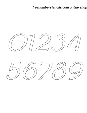 1 Inch Ancient Celtic Italic Italic Number Stencils 0 to 9 1 Inch Ancient Celtic Italic Italic Number Stencils 0 to 9 Number Stencil Sample