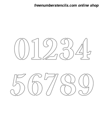 4 Inch High Contrast Elegant Number Stencils 0 to 9 4 Inch High Contrast Elegant Number Stencils 0 to 9 Number Stencil Sample