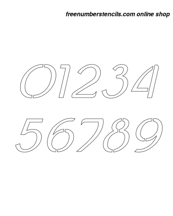 4 Inch Ancient Celtic Italic Italic Number Stencils 0 to 9 4 Inch Ancient Celtic Italic Italic Number Stencils 0 to 9 Number Stencil Sample